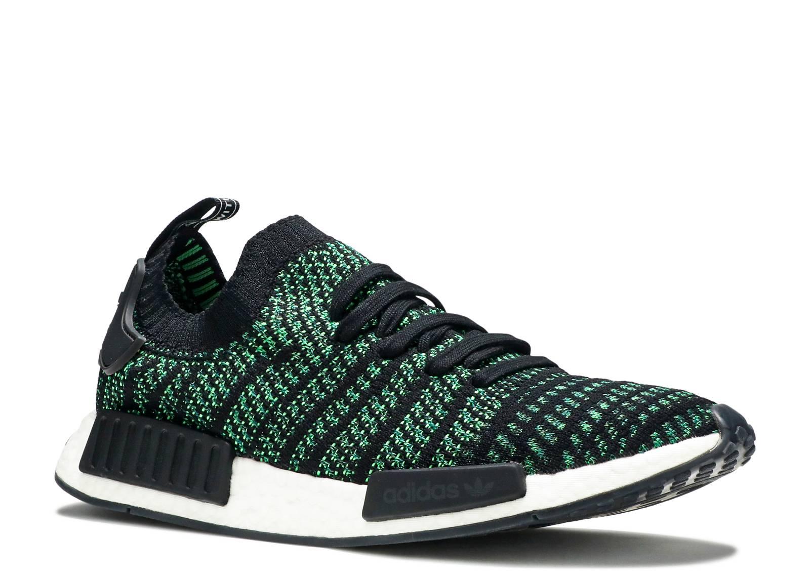 6131ab14f Nmd R1 Stlt Pk - Adidas - aq0936 - black noble green  bold green ...