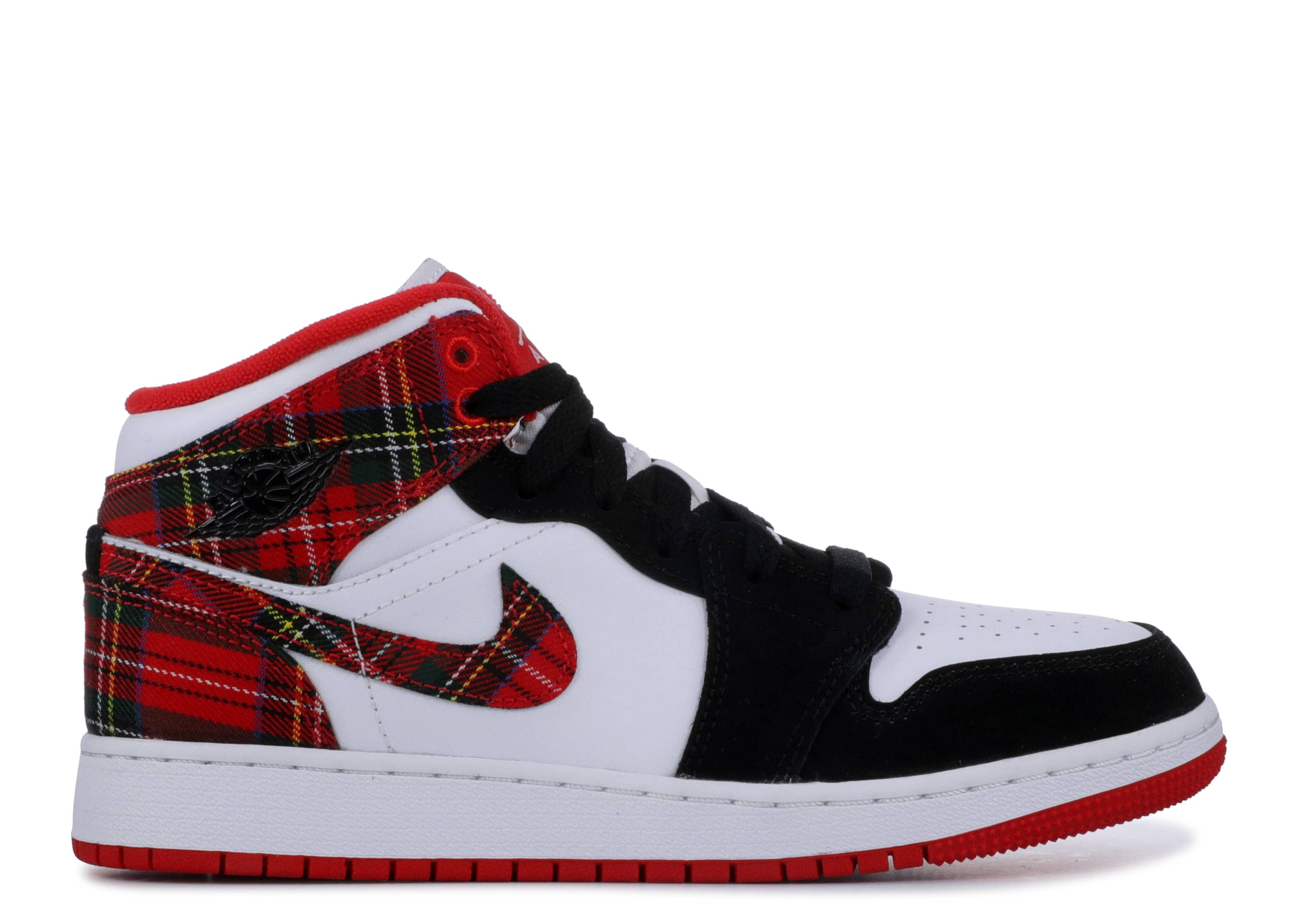 "Air Jordan 1 Retro Mid GS 'Bad Santa' ""Bad Santa"""