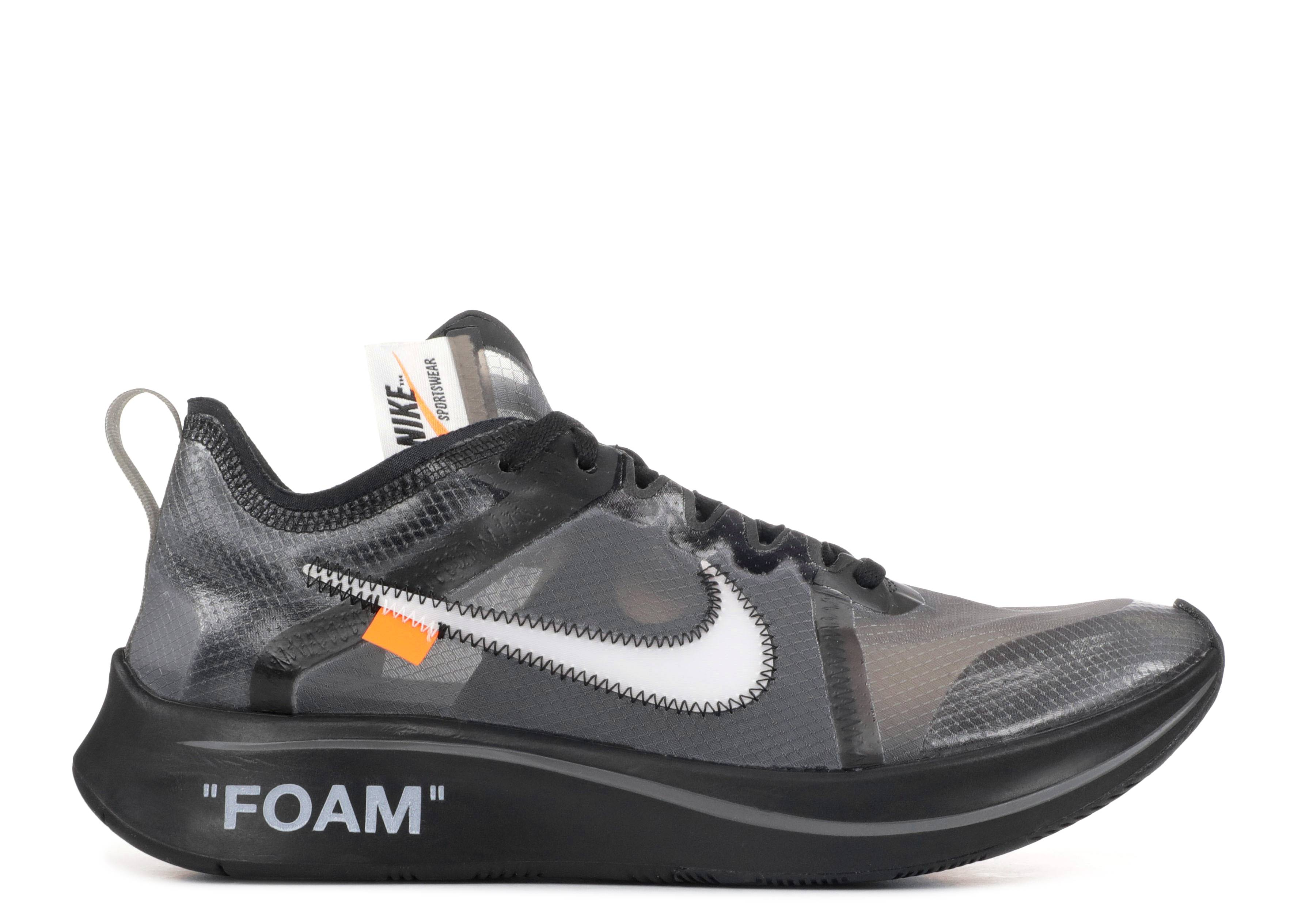 nike zoom fly sp off white black