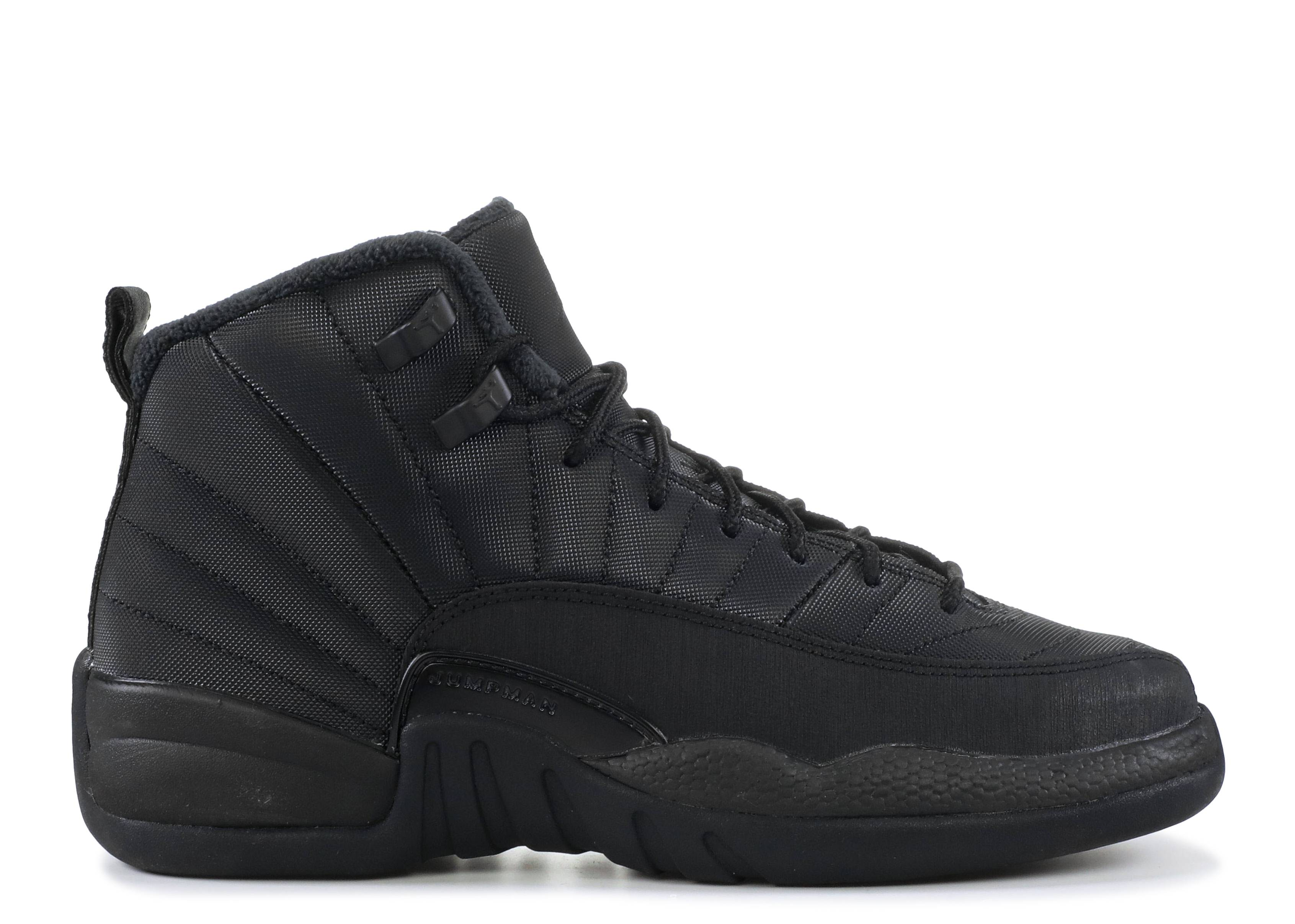 6fa74819af40 Air Jordan 12 Retro Wntr (gs) - Air Jordan - bq6852 001 - black ...