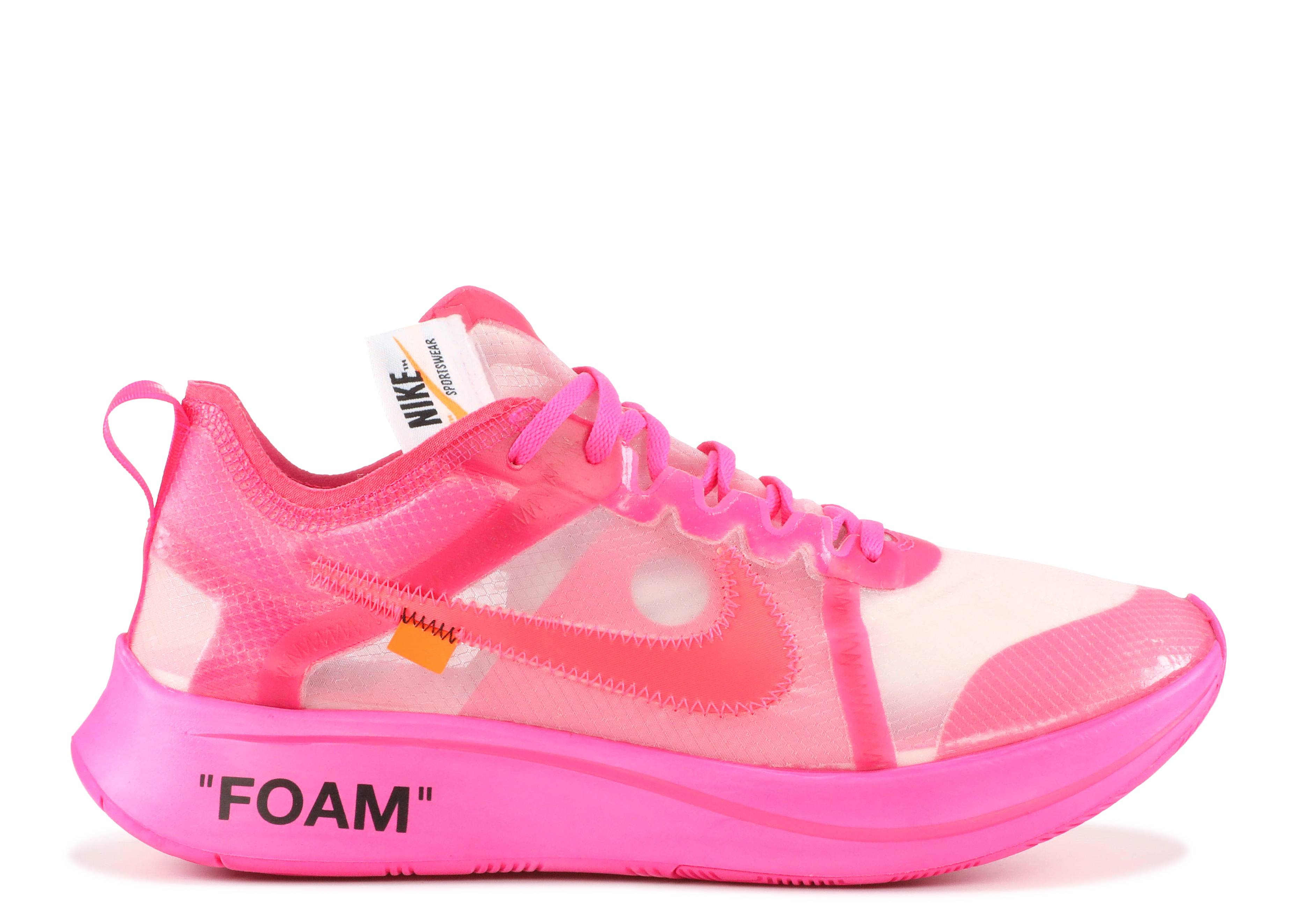 Caballero amable Incitar oficina postal  Off White X Zoom Fly SP 'Tulip Pink' - Nike - AJ4588 600 - tulip pink/racer  pink | Flight Club