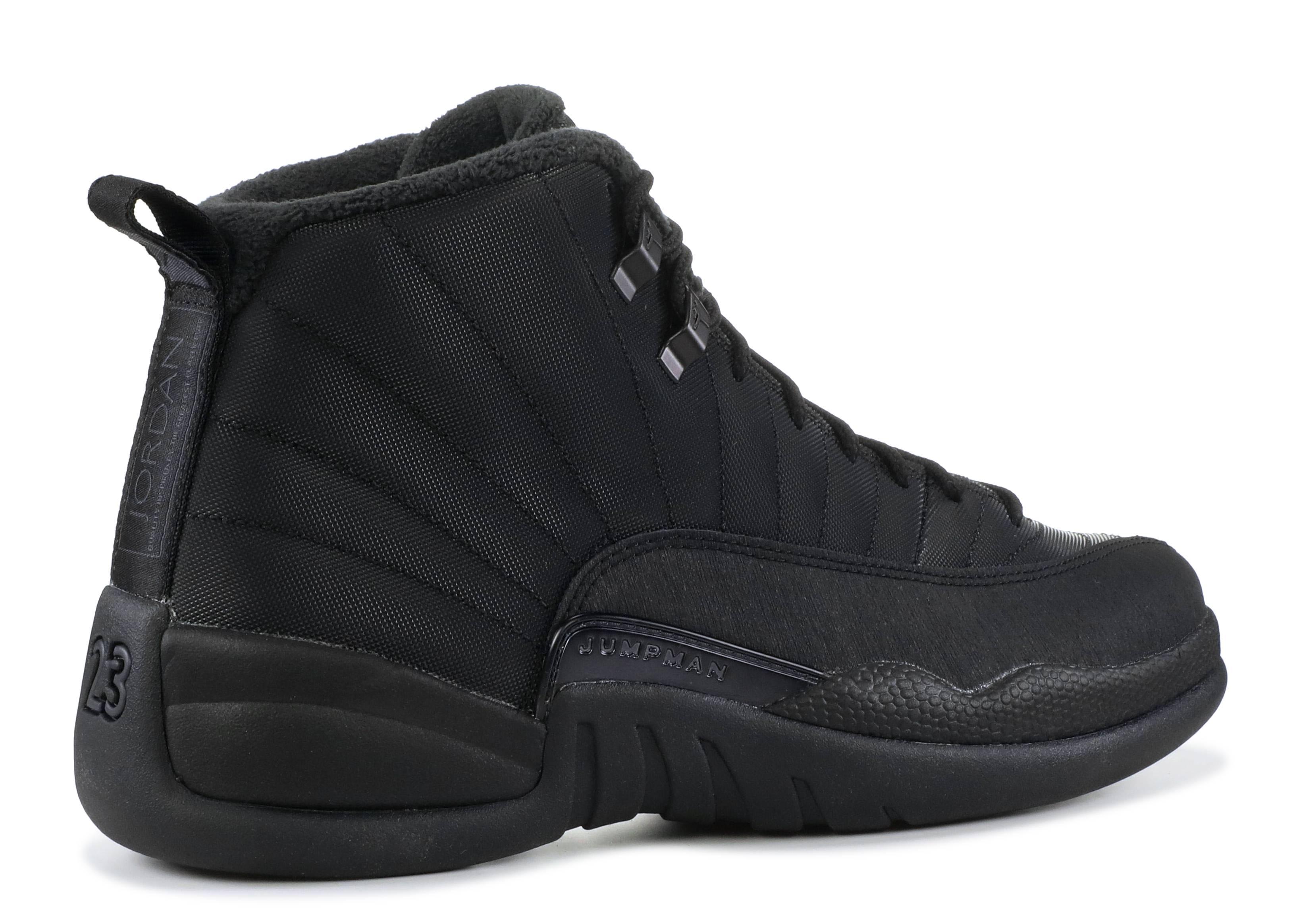 salón Adjunto archivo Cerveza  Air Jordan 12 Retro Winterized 'Triple Black' - Air Jordan - BQ6851 001 -  black/black-anthracite | Flight Club