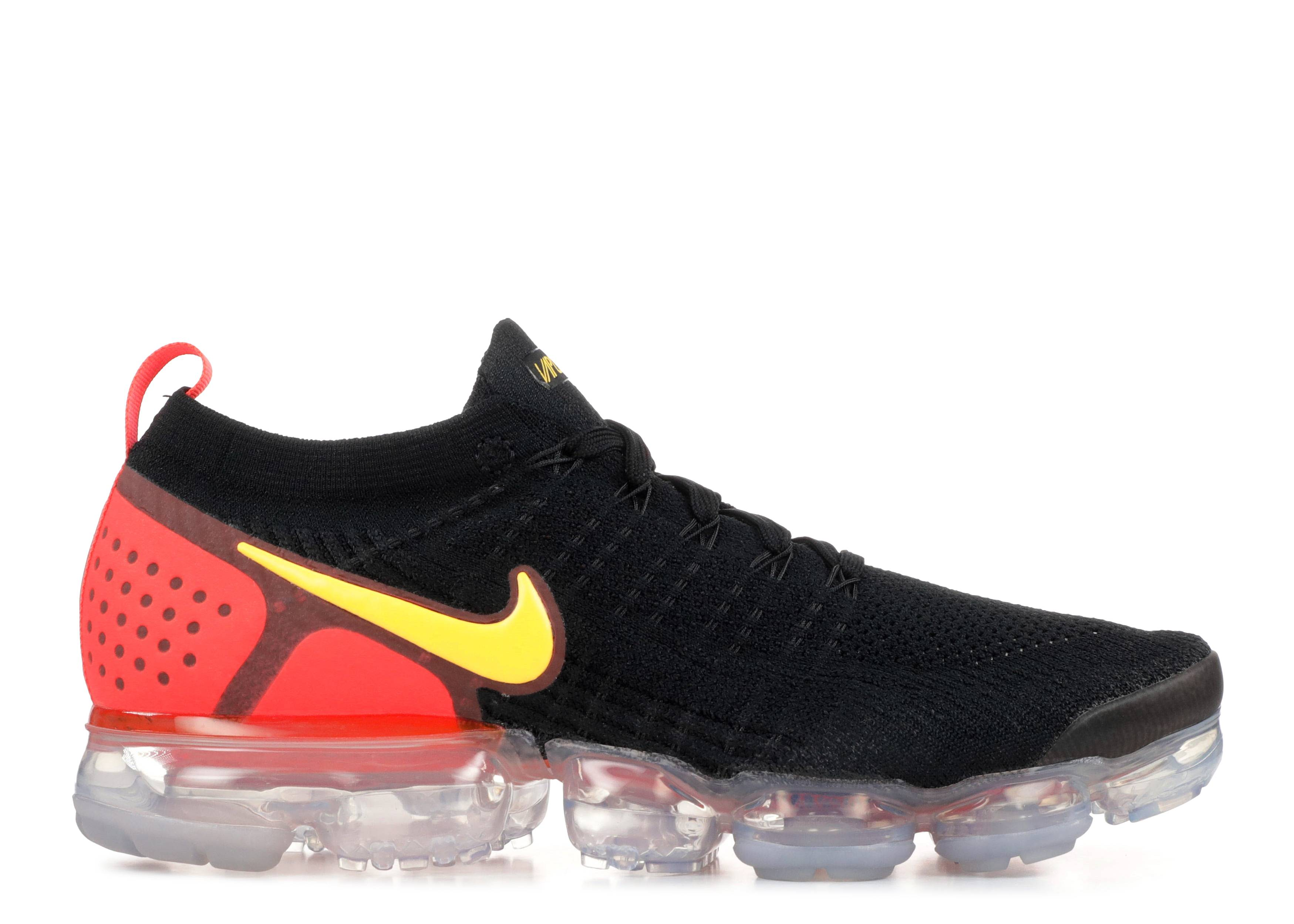 vapormax flyknit black and orange