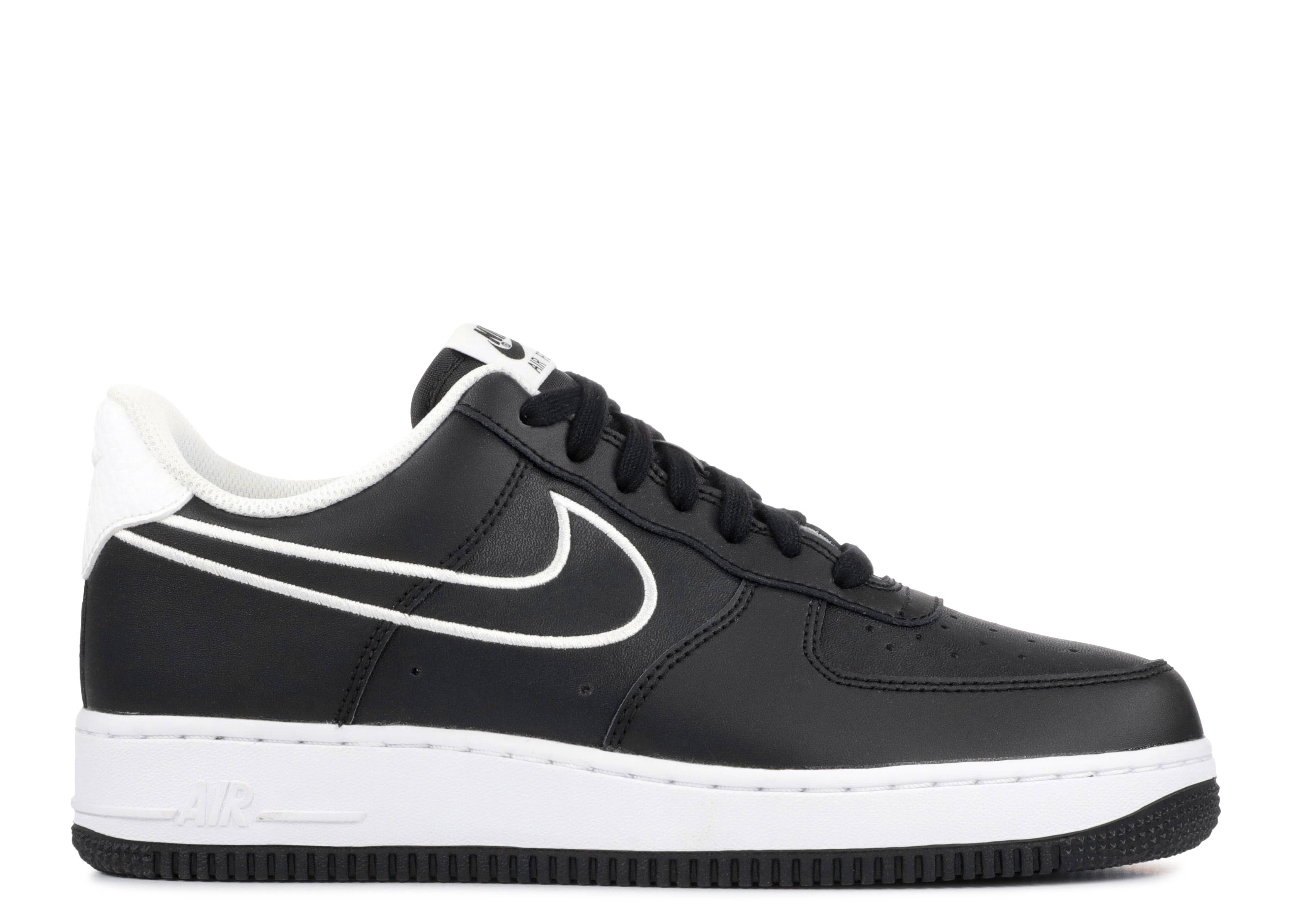 "air force 1 07 lthr  ""Black"""