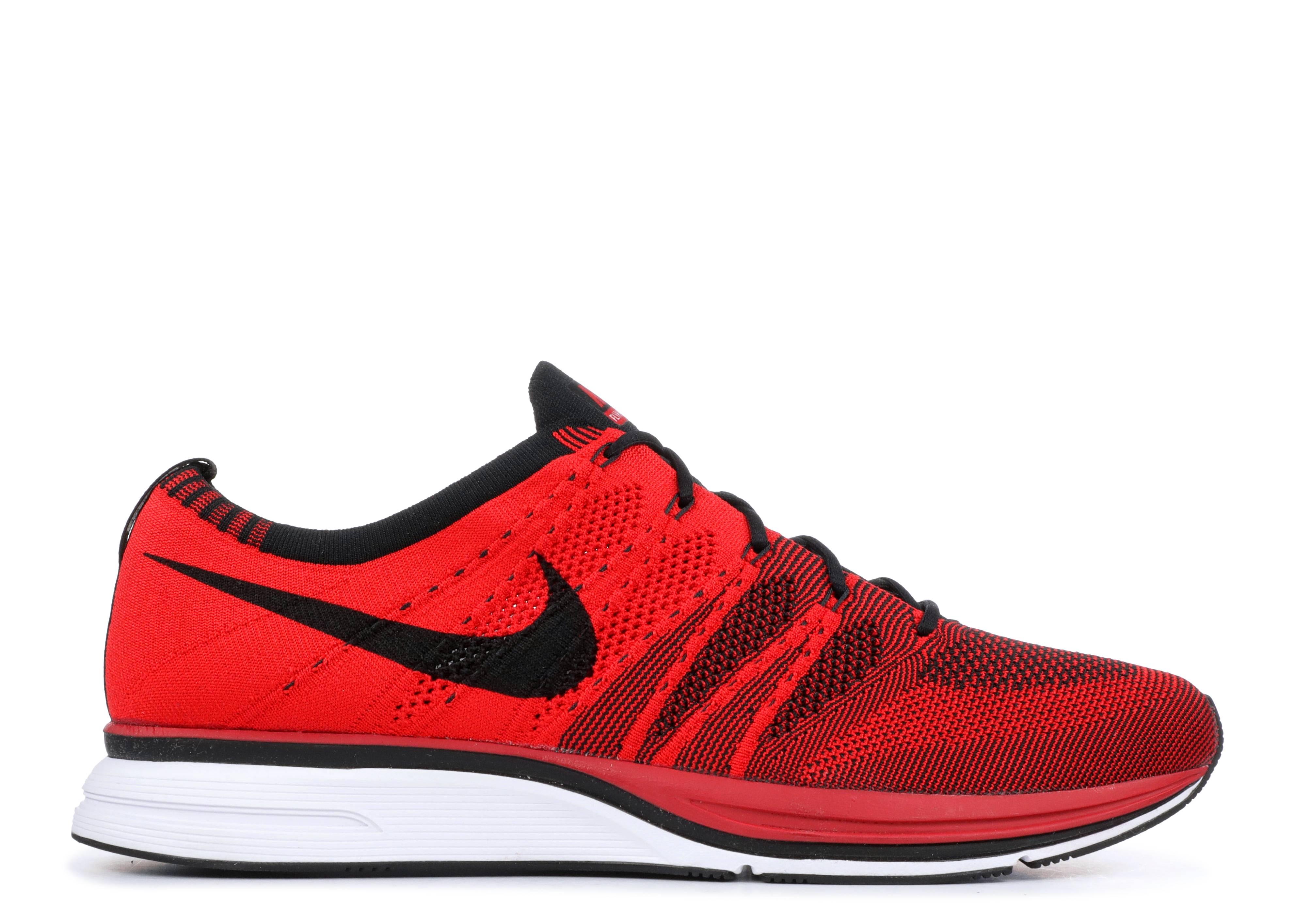 6386a394ec75 Nike Flyknit Trainer - Nike - ah8396 601 - university red black ...
