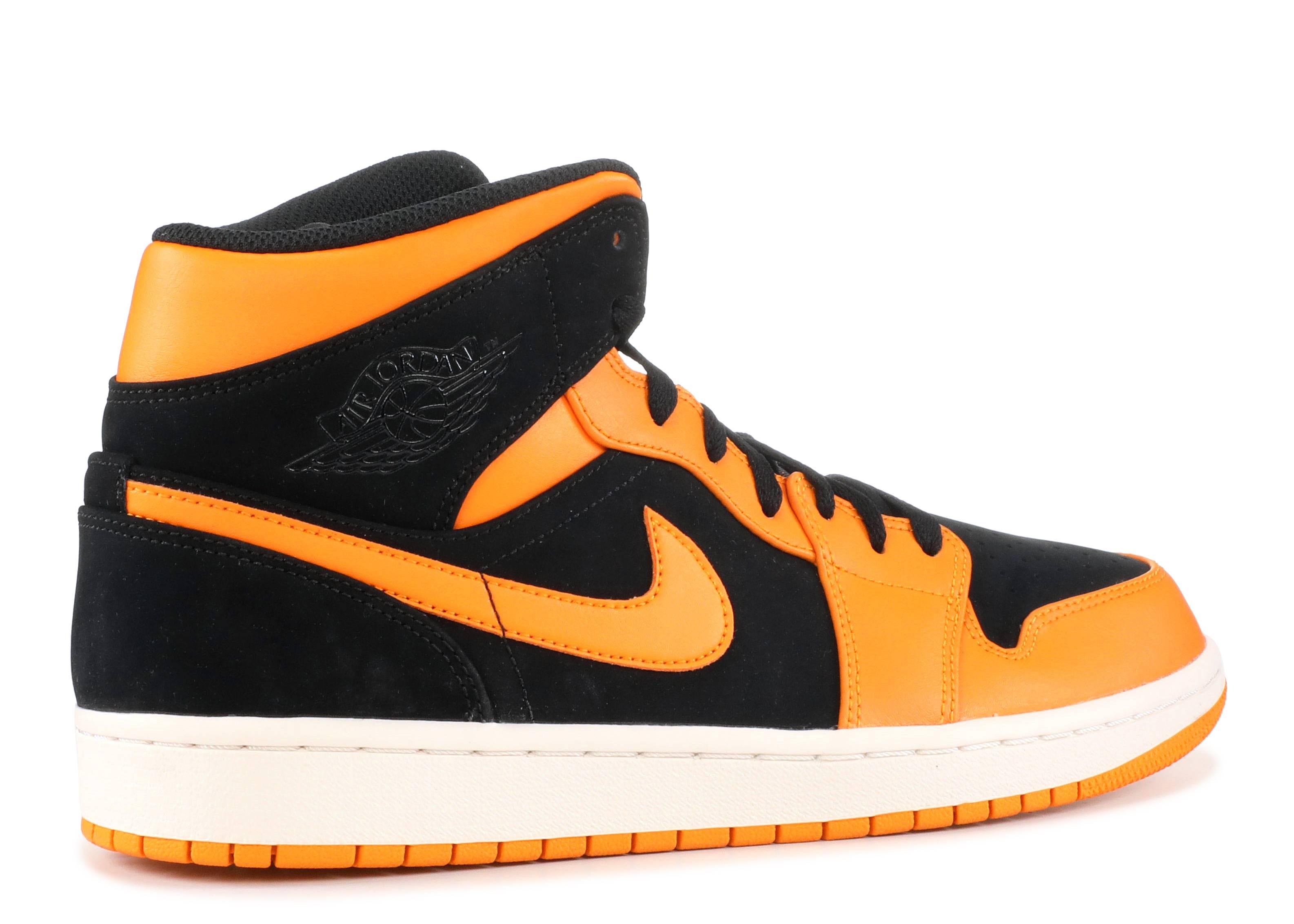 cac66b95af29 Air Jordan 1 Mid - Nike - 554724 081 - black orange peel-sail ...