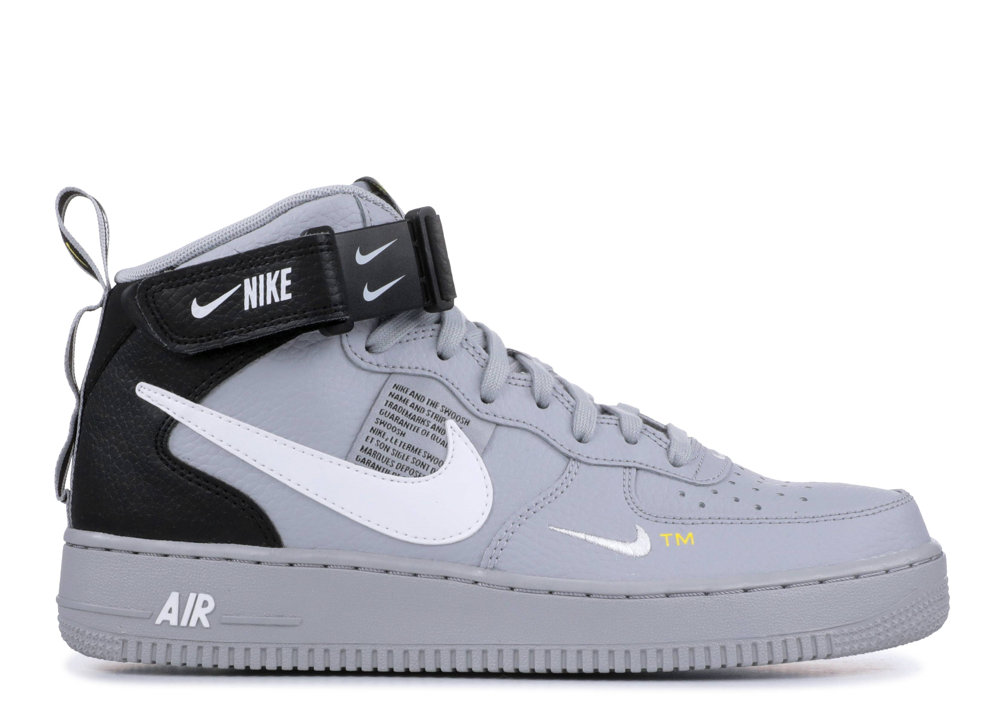 a9a6e7f5d5c4 Air Force 1 Mid  07 Lv8 - Nike - 804609 006 - wolf grey white-black ...