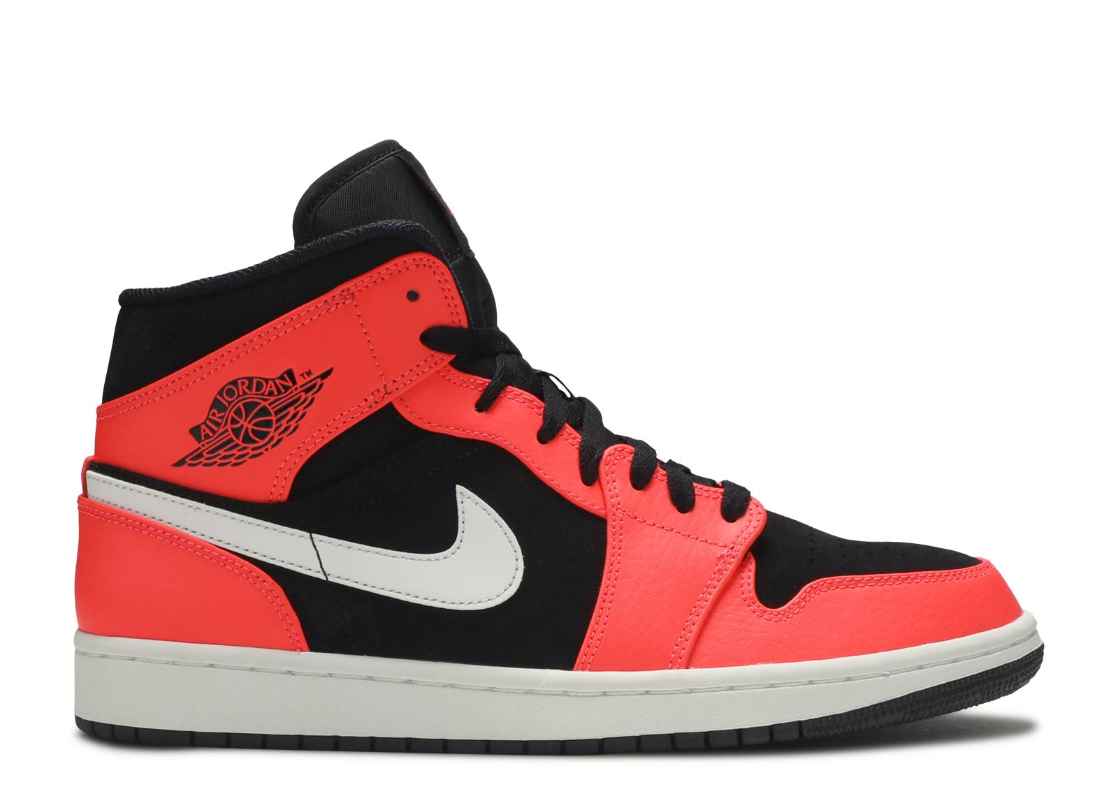 f1e820b47c26 Air Jordan 1 Mid - Air Jordan - 554724 061 - black white infrared ...