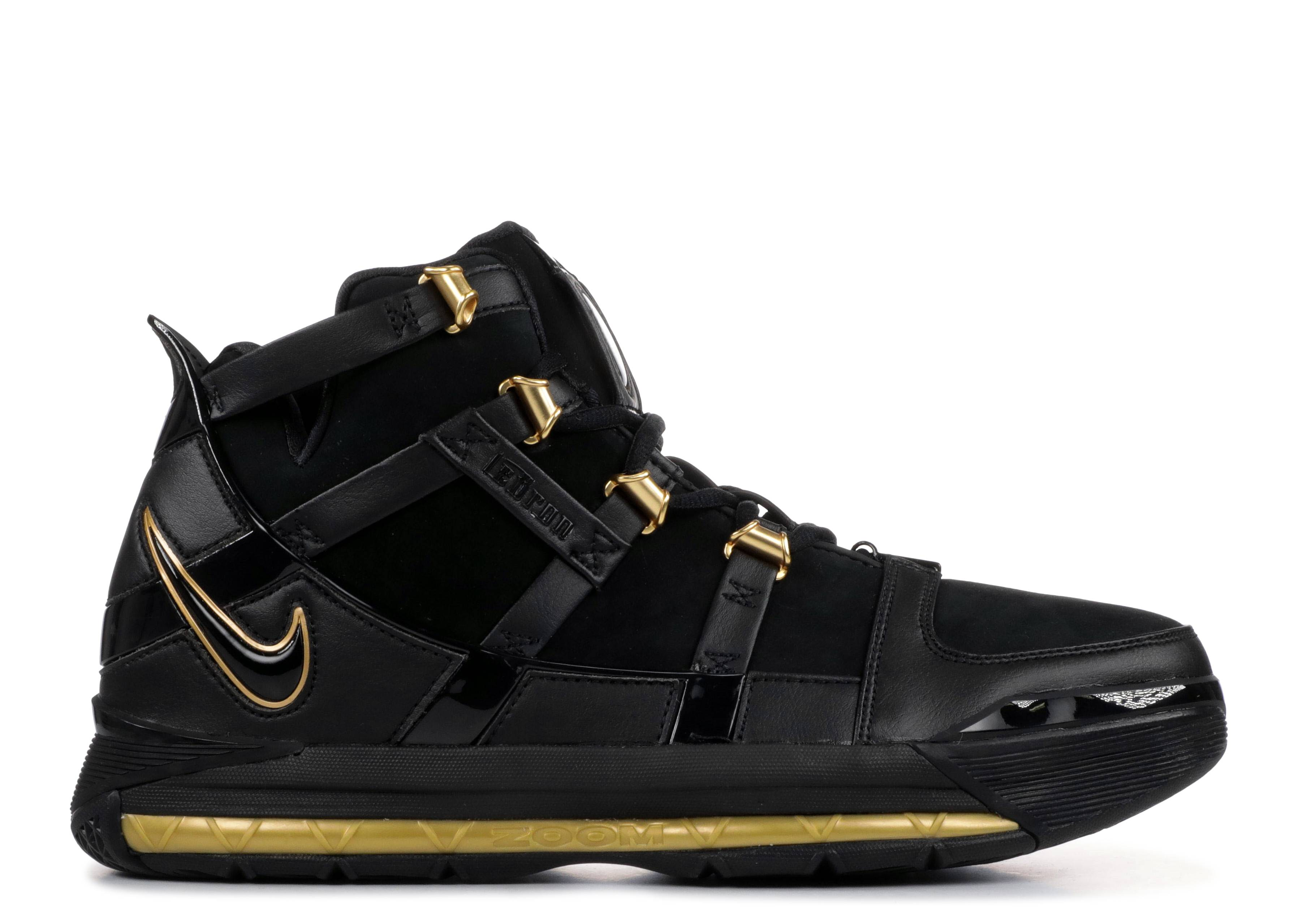cc73855d1180a Zoom Lebron 3 Qs - Nike - ao2434 001 - black black-metallic gold ...