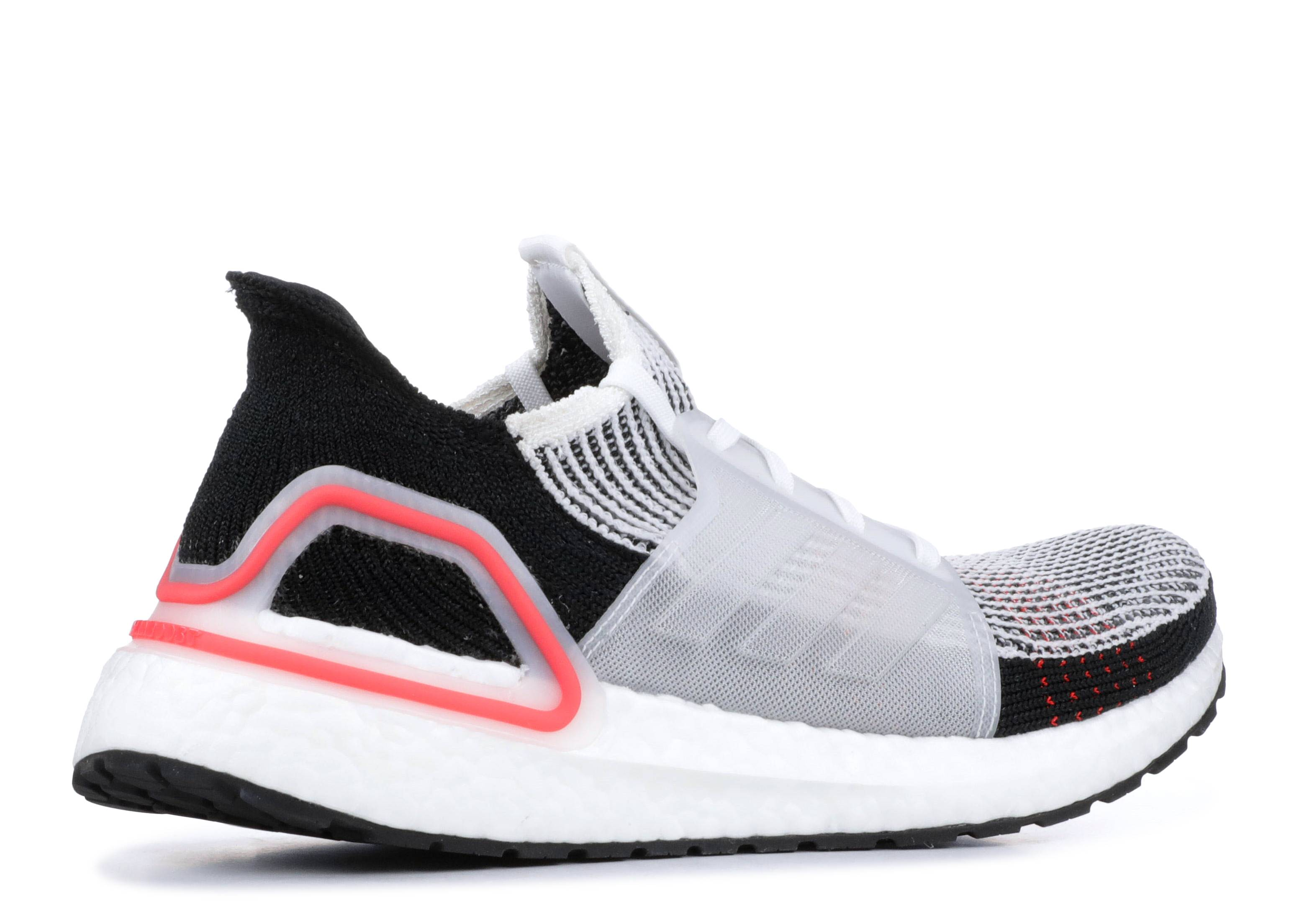 450219801 Ultraboost 19 - Adidas - b37703 - cloud white chalk white active red ...