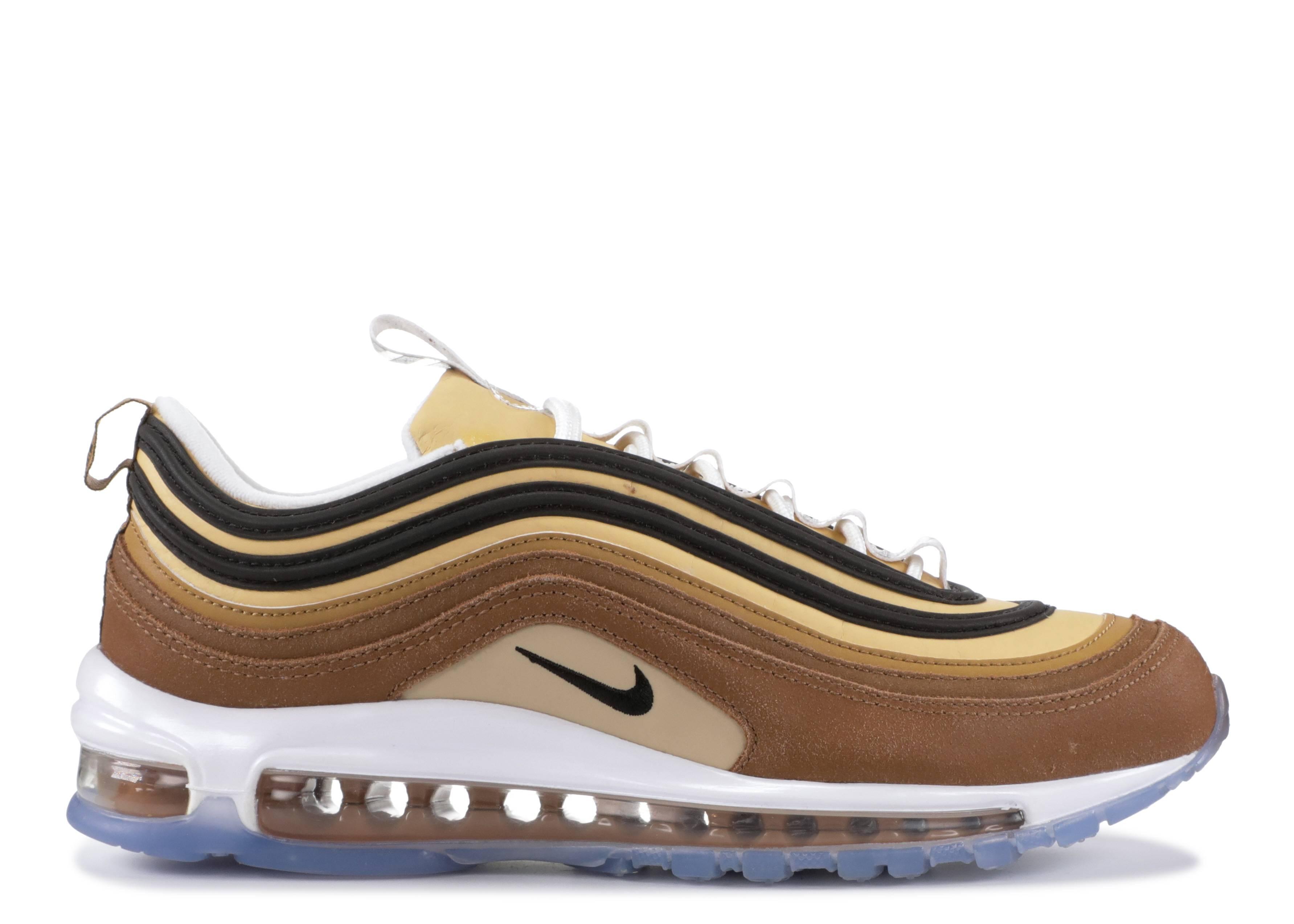 insondable sábado Limpiamente  Air Max 97 'Unboxed' - Nike - 921826 201 - ale brown/black-elemental gold |  Flight Club