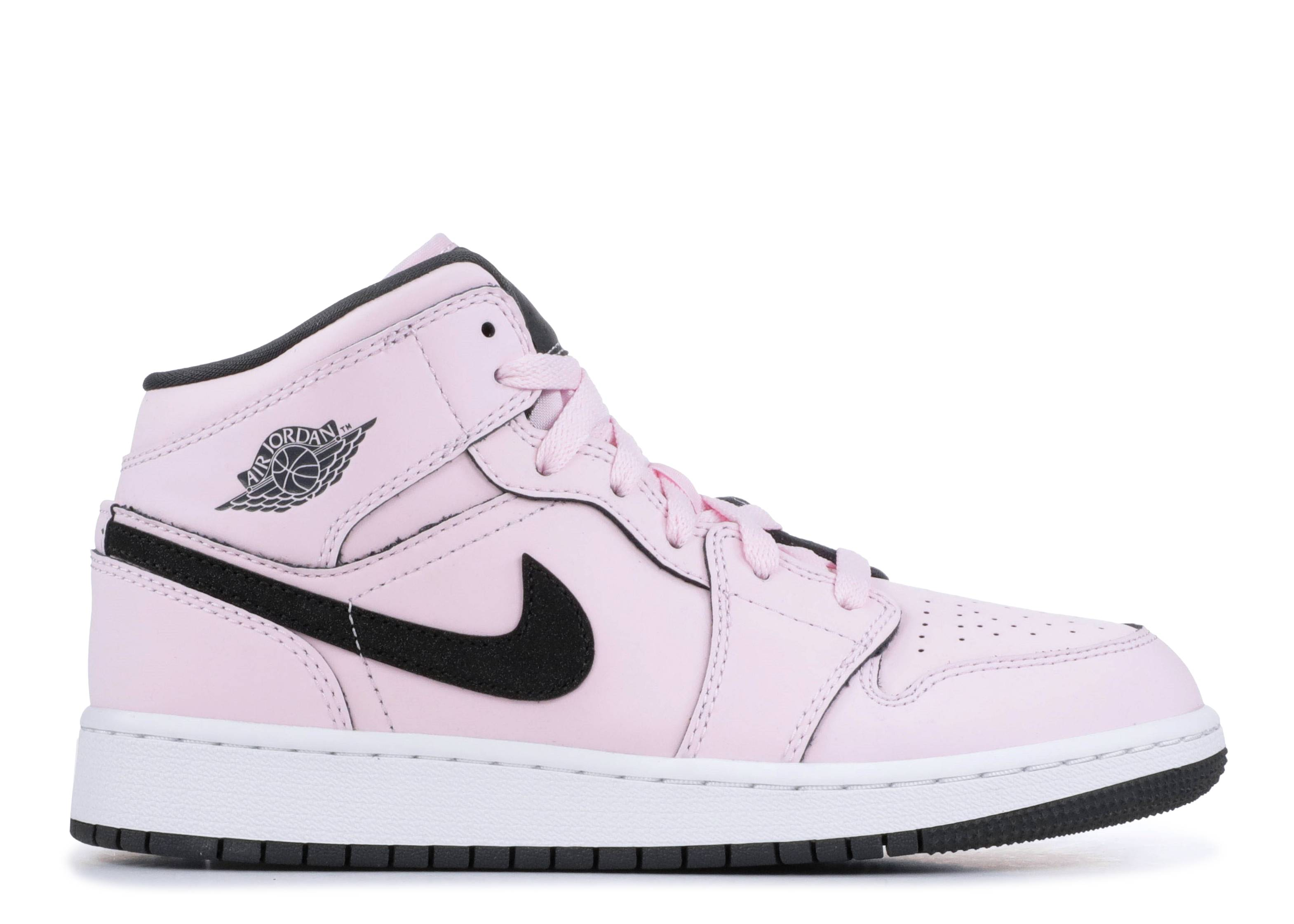 ba3e10935f4 Air Jordan 1 Mid (gs) - Air Jordan - 555112 601 - pink foam black ...