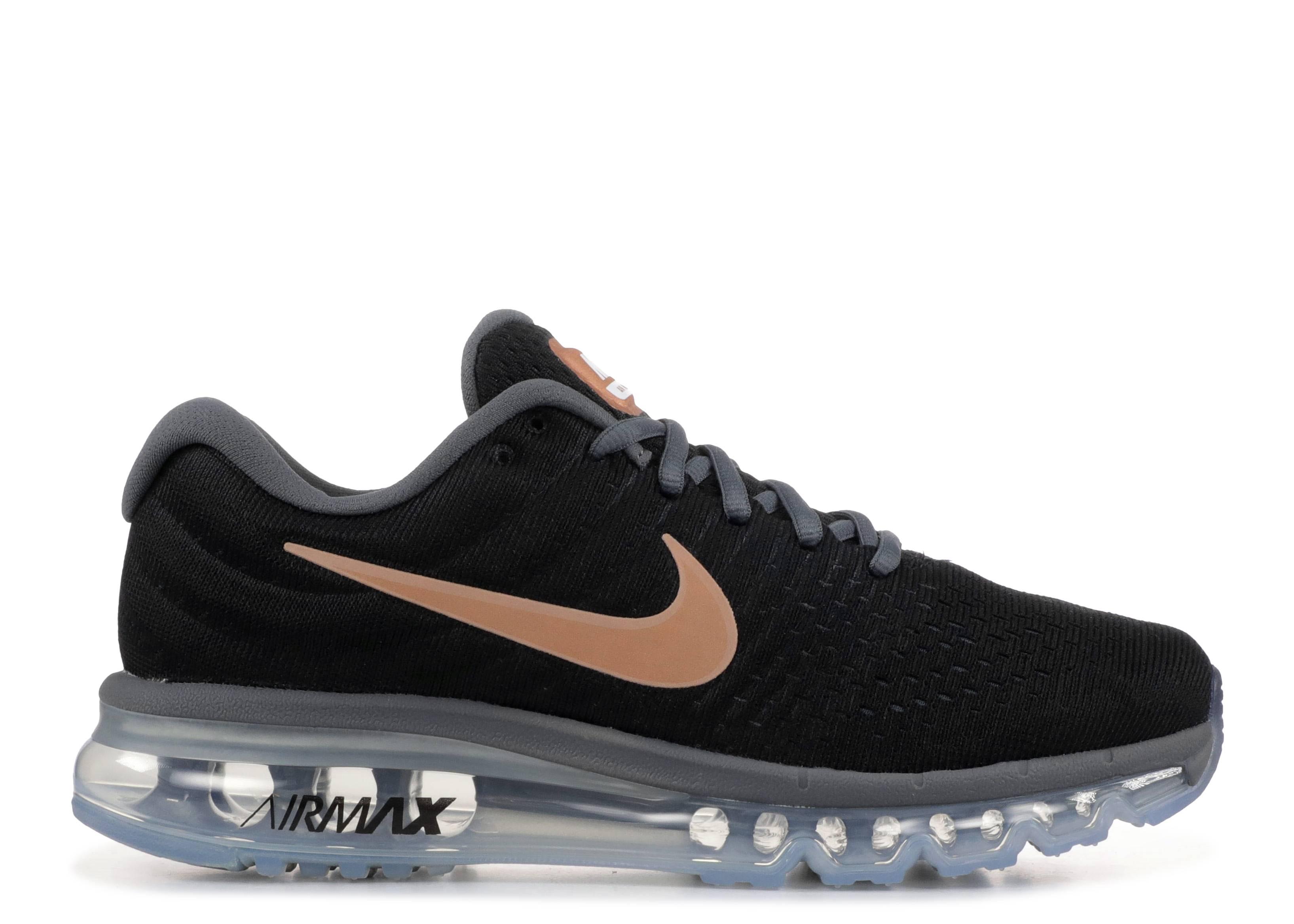 Wmns Nike Air Max 2017 Nike 849560 008 black.mtlcred bronze | Flight Club