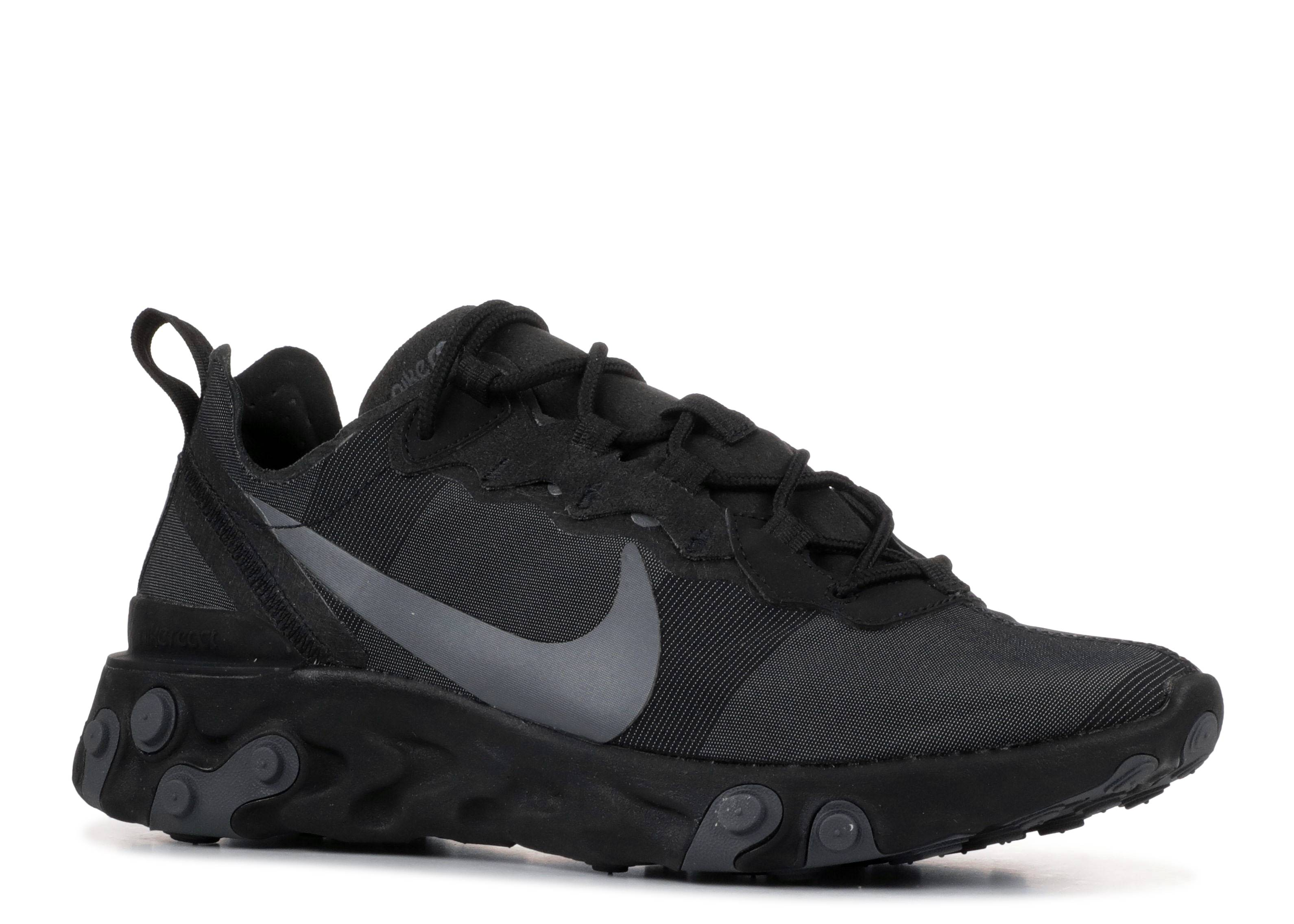 Costa Contribución Sorprendido  React Element 55 'Triple Black' - Nike - BQ6166 008 - black/black-dark grey  | Flight Club