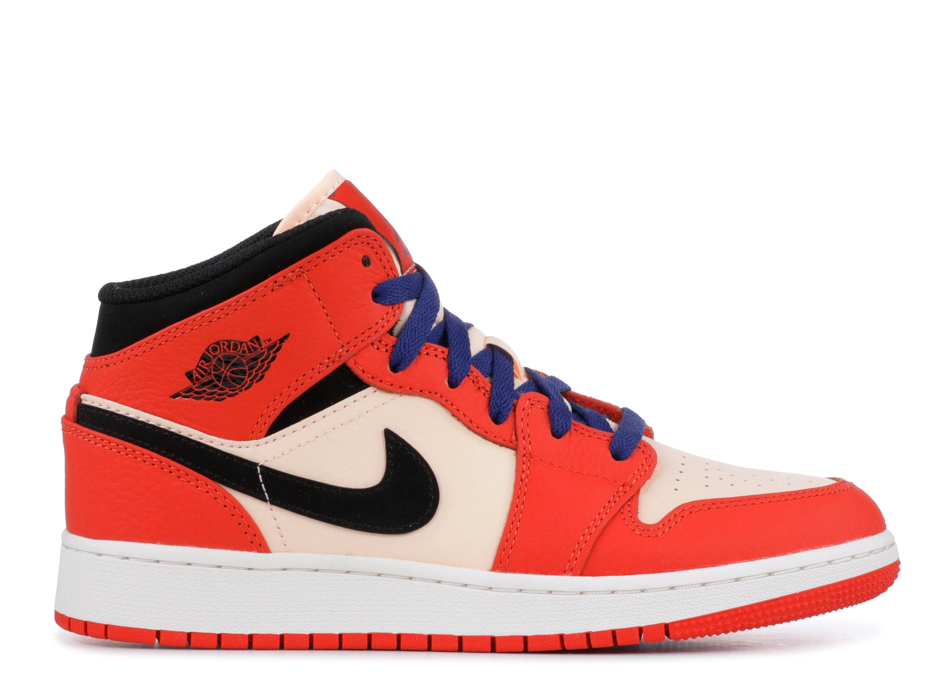 Air Jordan 1 Mid Se - Air Jordan - bq6931 800 - team orange black ... a01fdc48c
