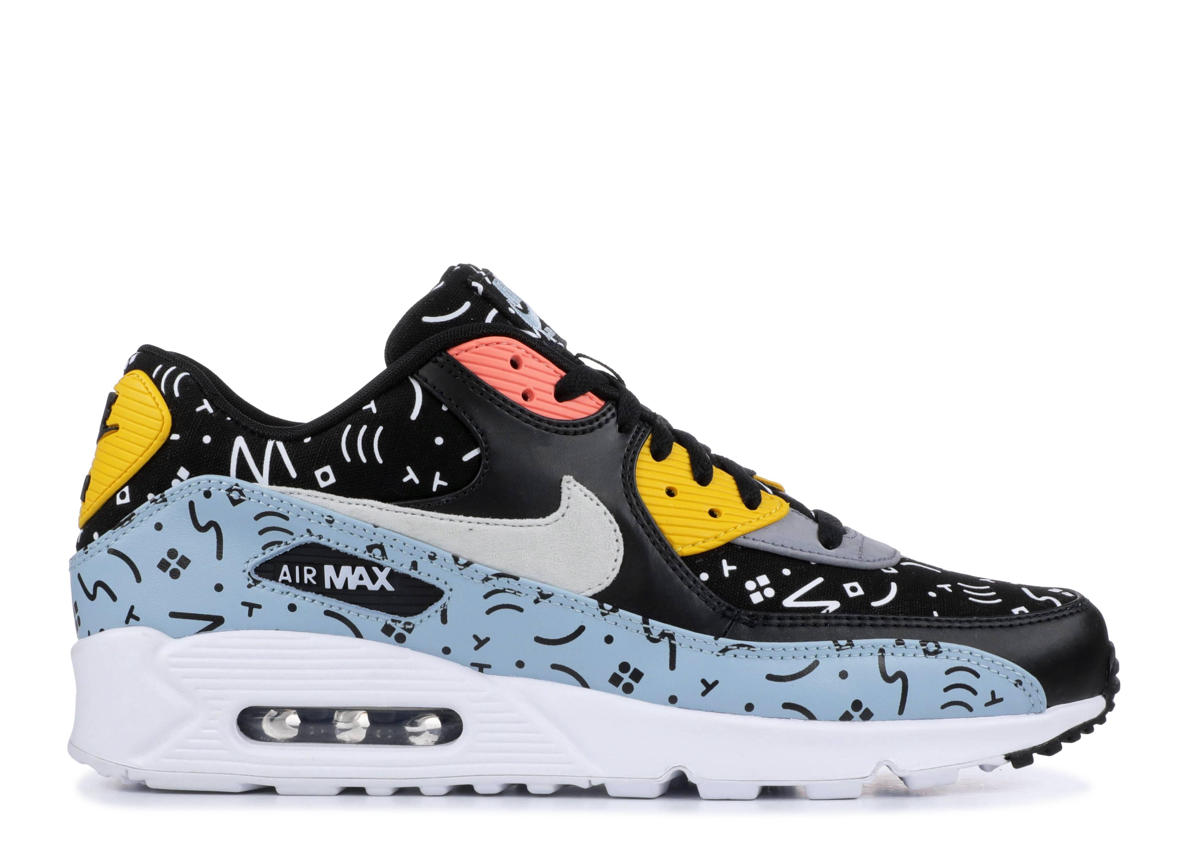 Men's Nike Air Max 90 Premium Random Scribbles Ocean Bliss