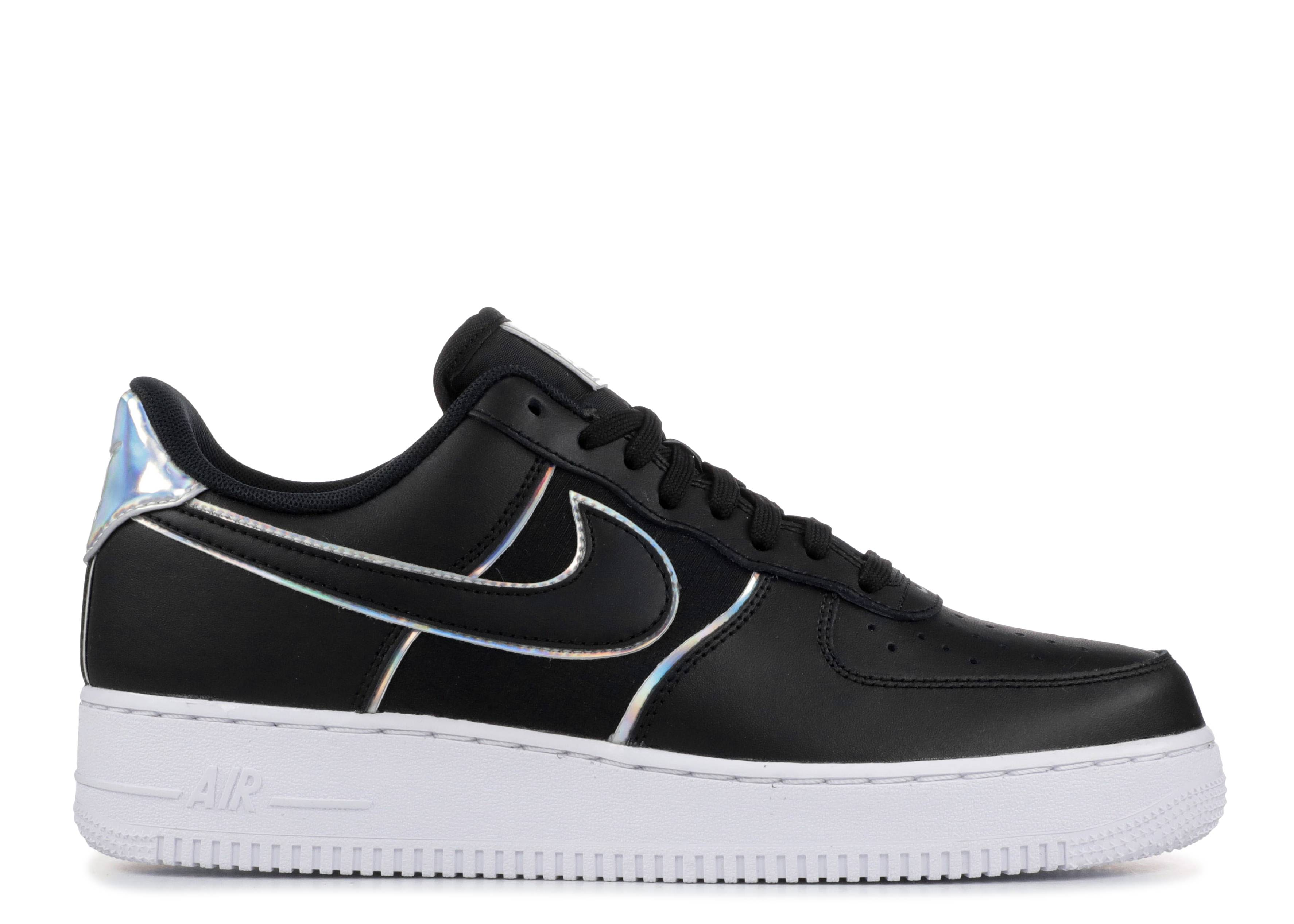 "Nike Air Force 1 Low '07 LV8 ""Black Iridescent Outline"" ""Black Iridescent Outline"""