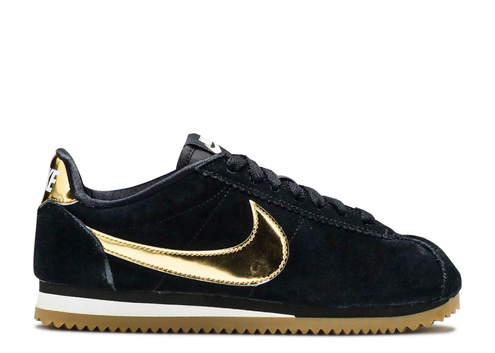 best website 53361 89b02 Wmns Classic Cortez Se - Nike - 902856 014 - black metallic gold-phantom    Flight Club