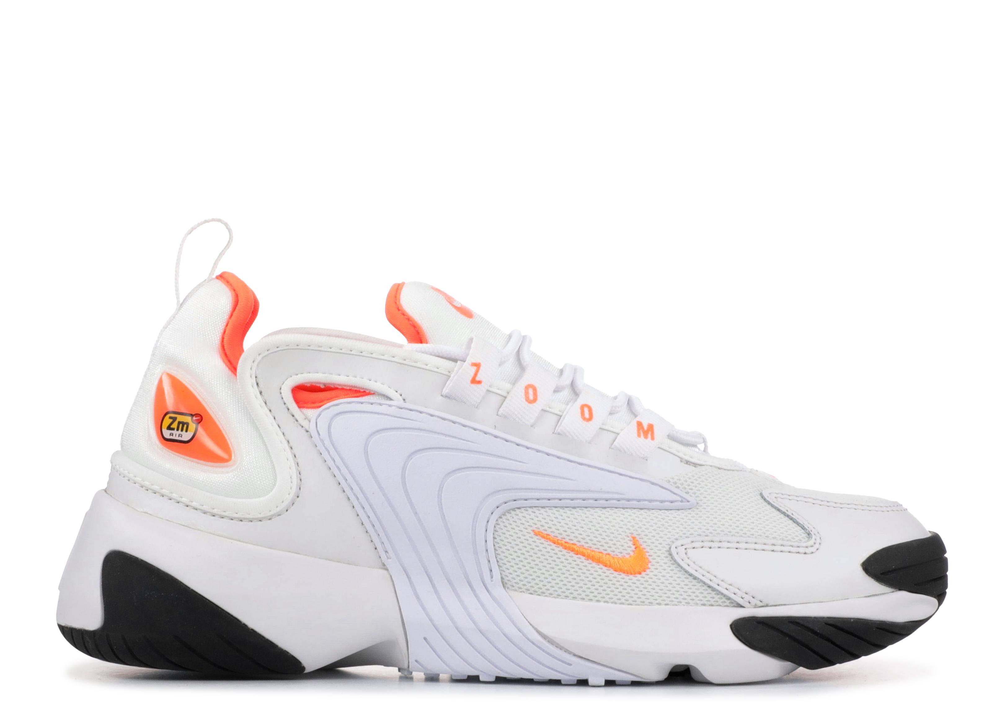 967ebcc1cb64 Nike Zoom 2k - Nike - ao0354 002 - white safety orange- black ...
