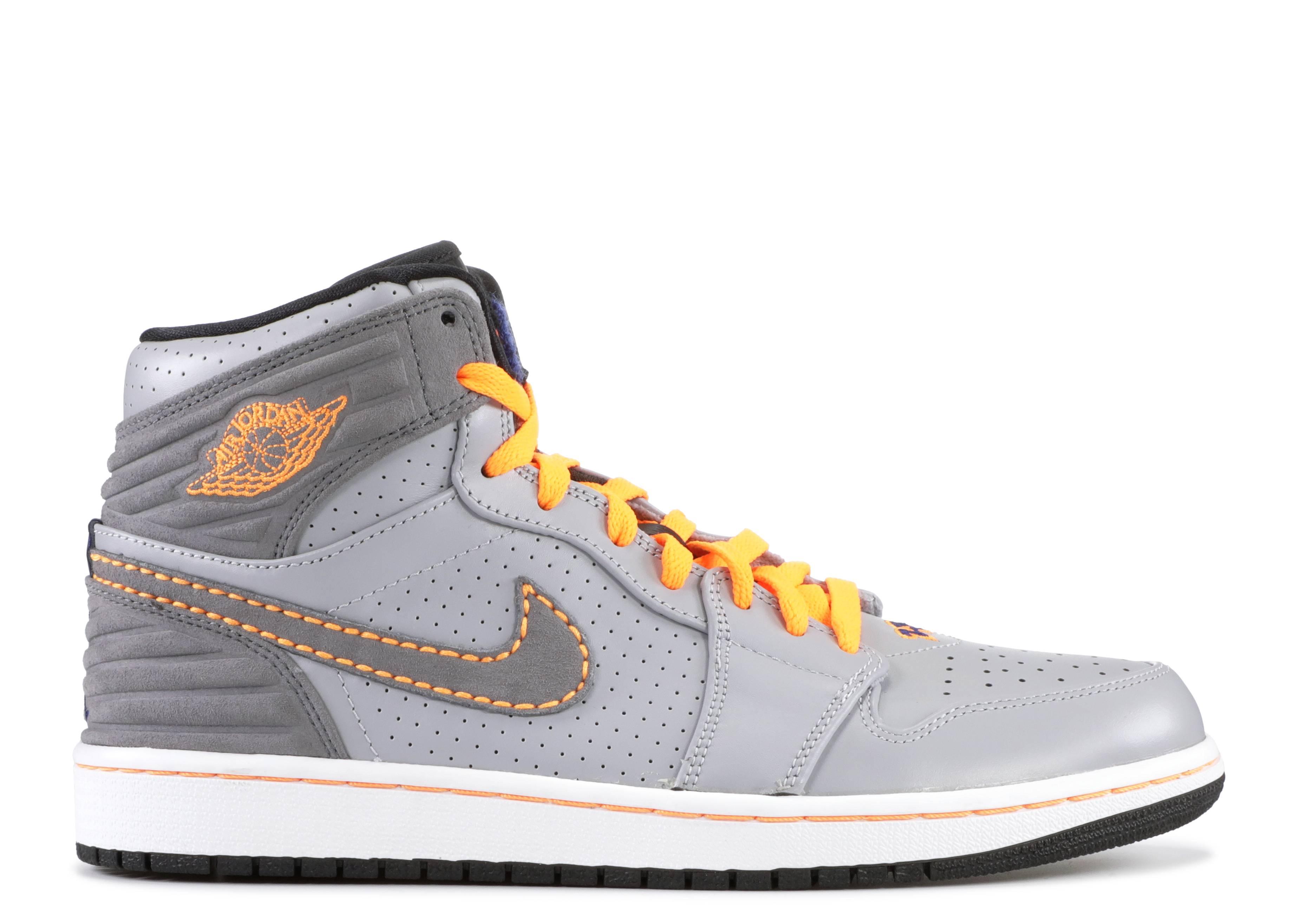 air jordan 1 orange grey