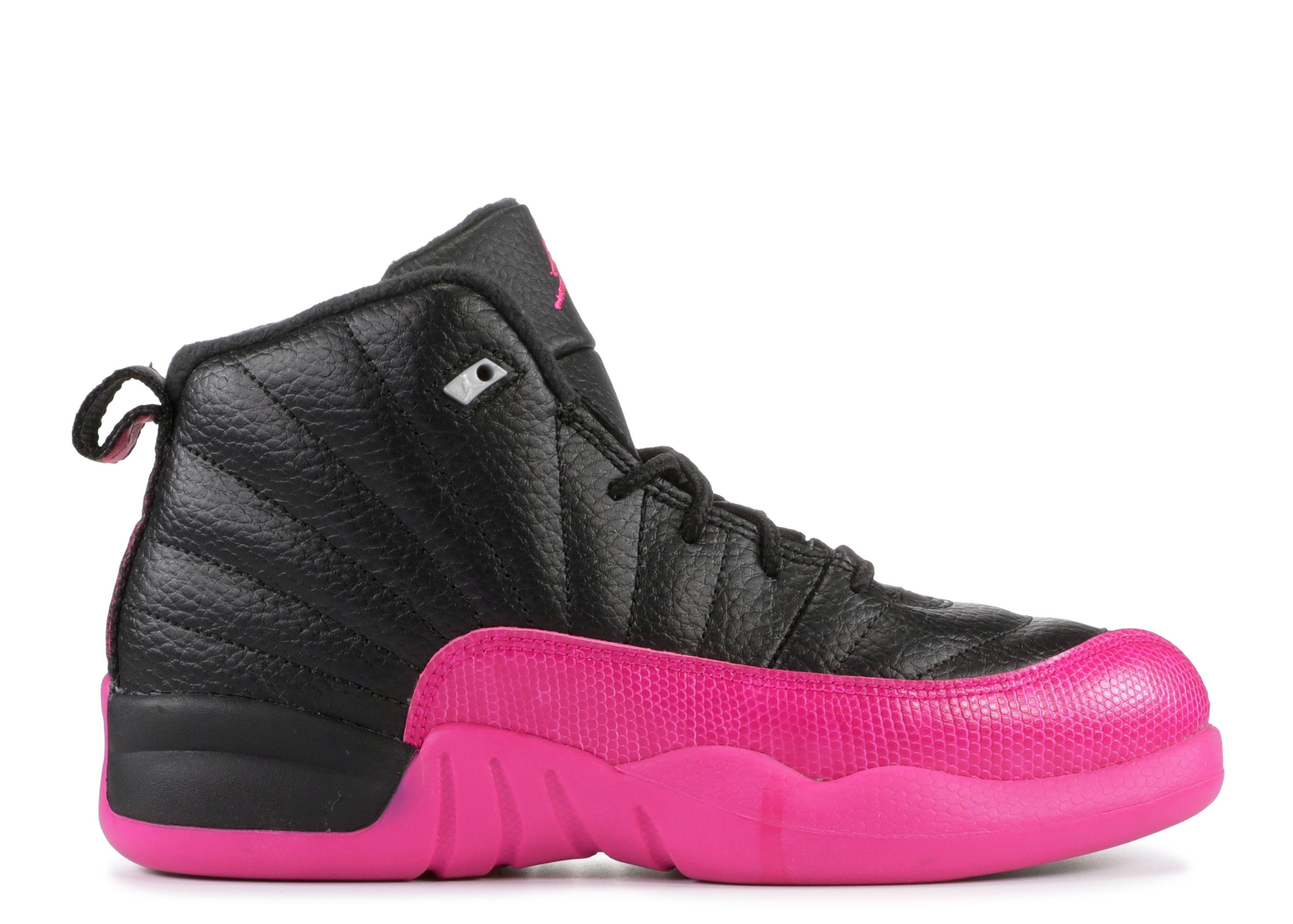 "Jordan 12 Retro ""Black Deadly Pink"""