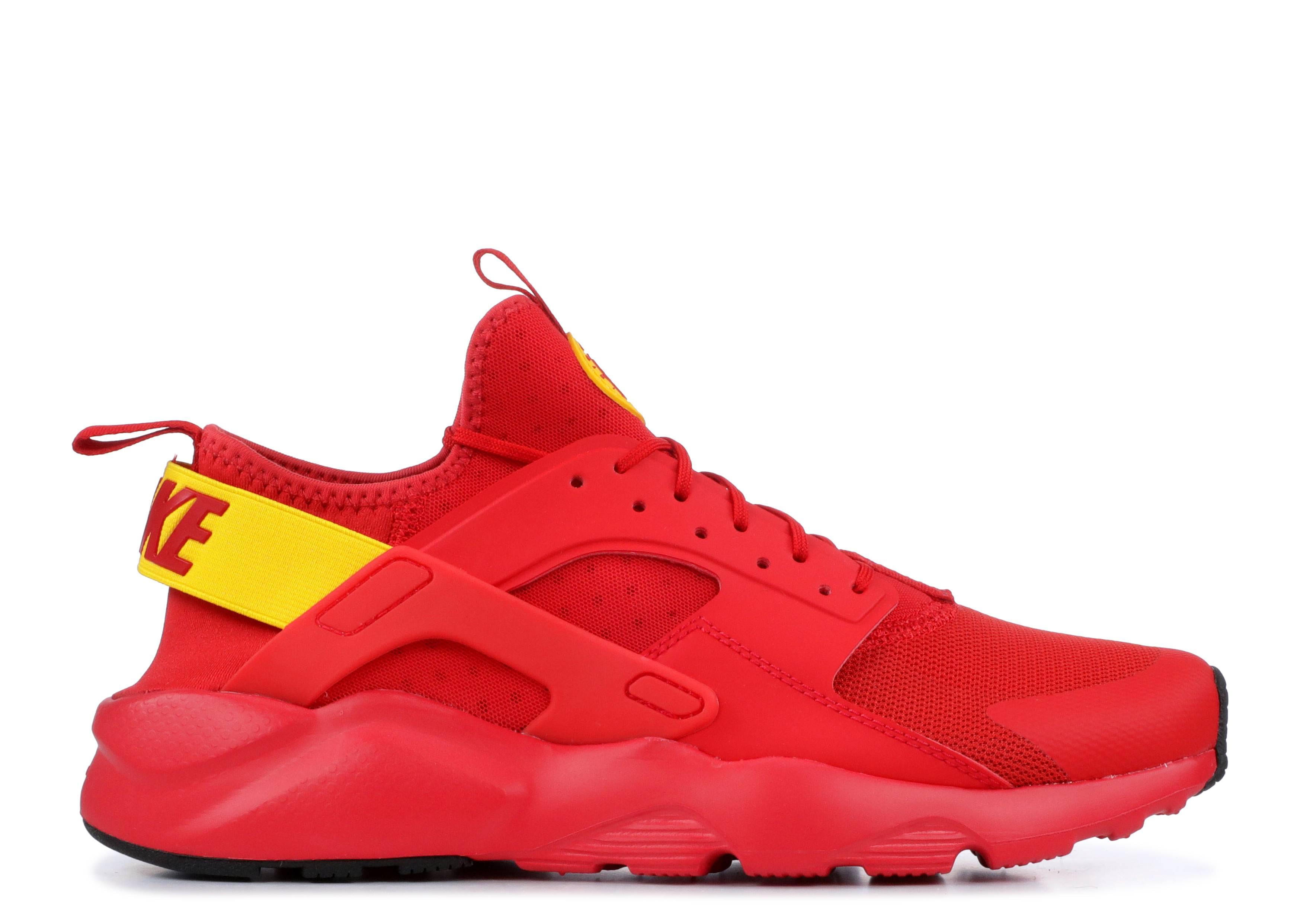 Nike Air Huarache Run Ultra Mens 819685 607 Red Amarillo Running Shoes Size 8