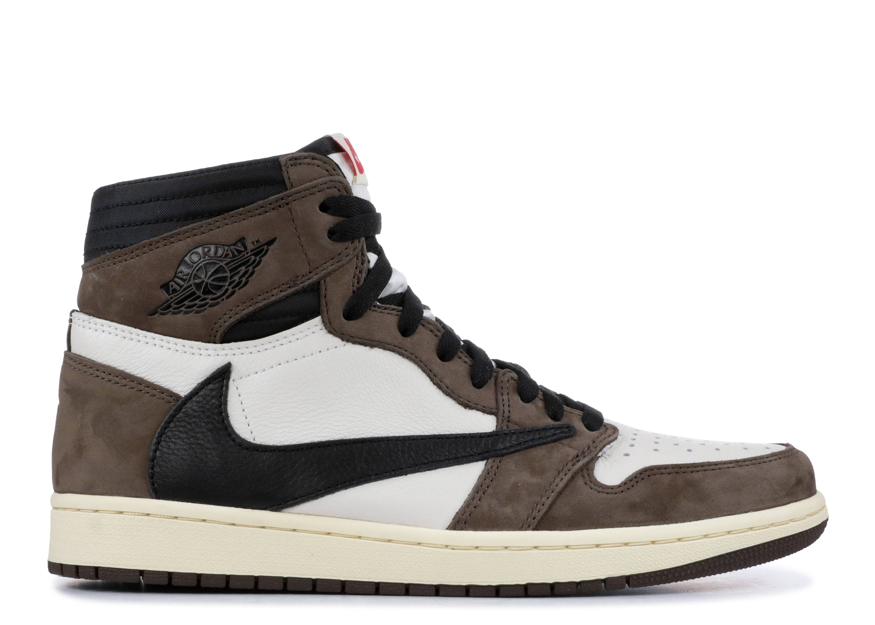 Afirmar El respeto familia real  Travis Scott X Air Jordan 1 Retro High OG 'Mocha' - Air Jordan - CD4487 100  - sail/dark mocha-university red-black | Flight Club