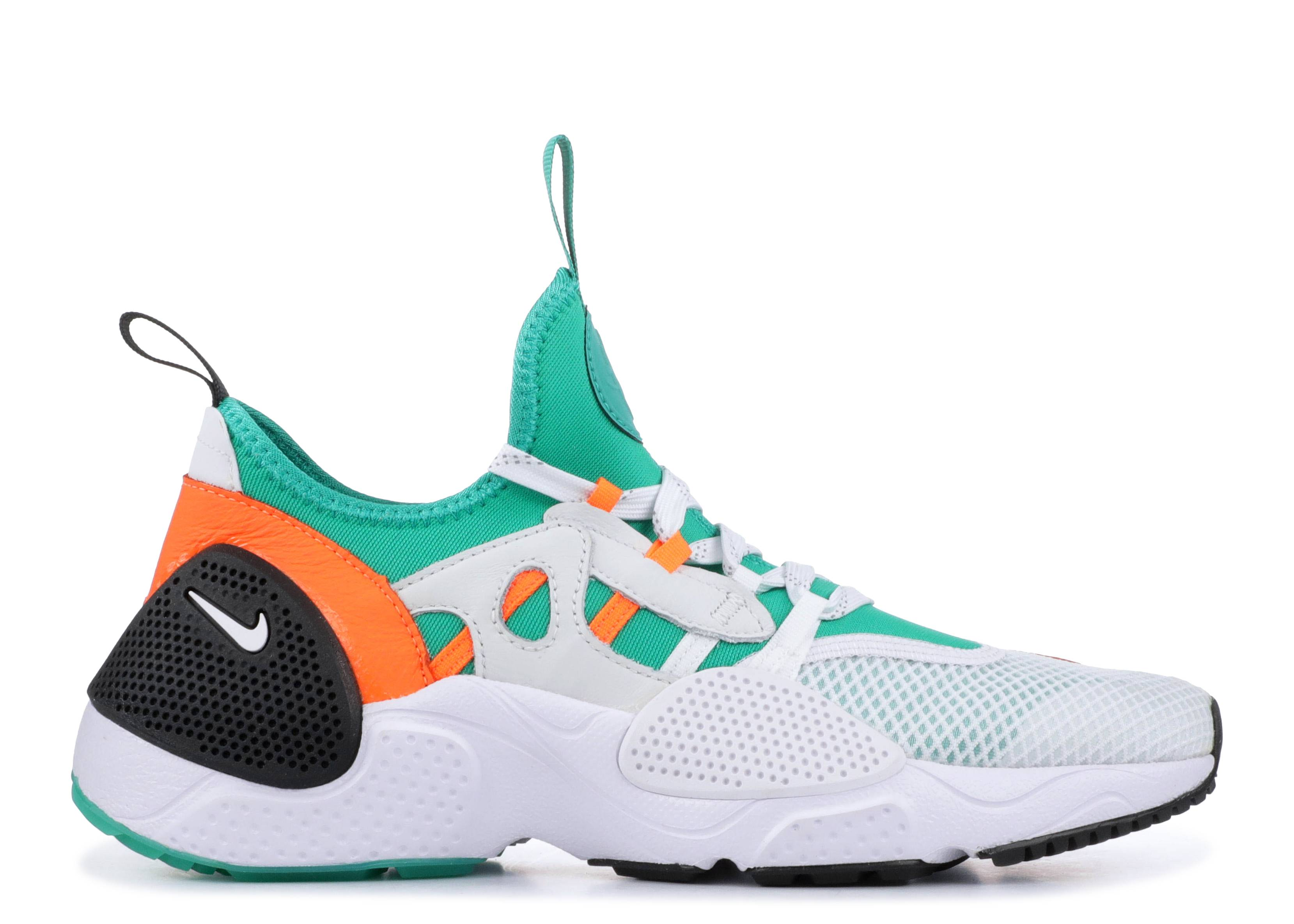new concept 890c1 bd3d9 Nike Huarache Edge Txt Qs - Nike - bq5206 100 - white clear emerald total  orange   Flight Club