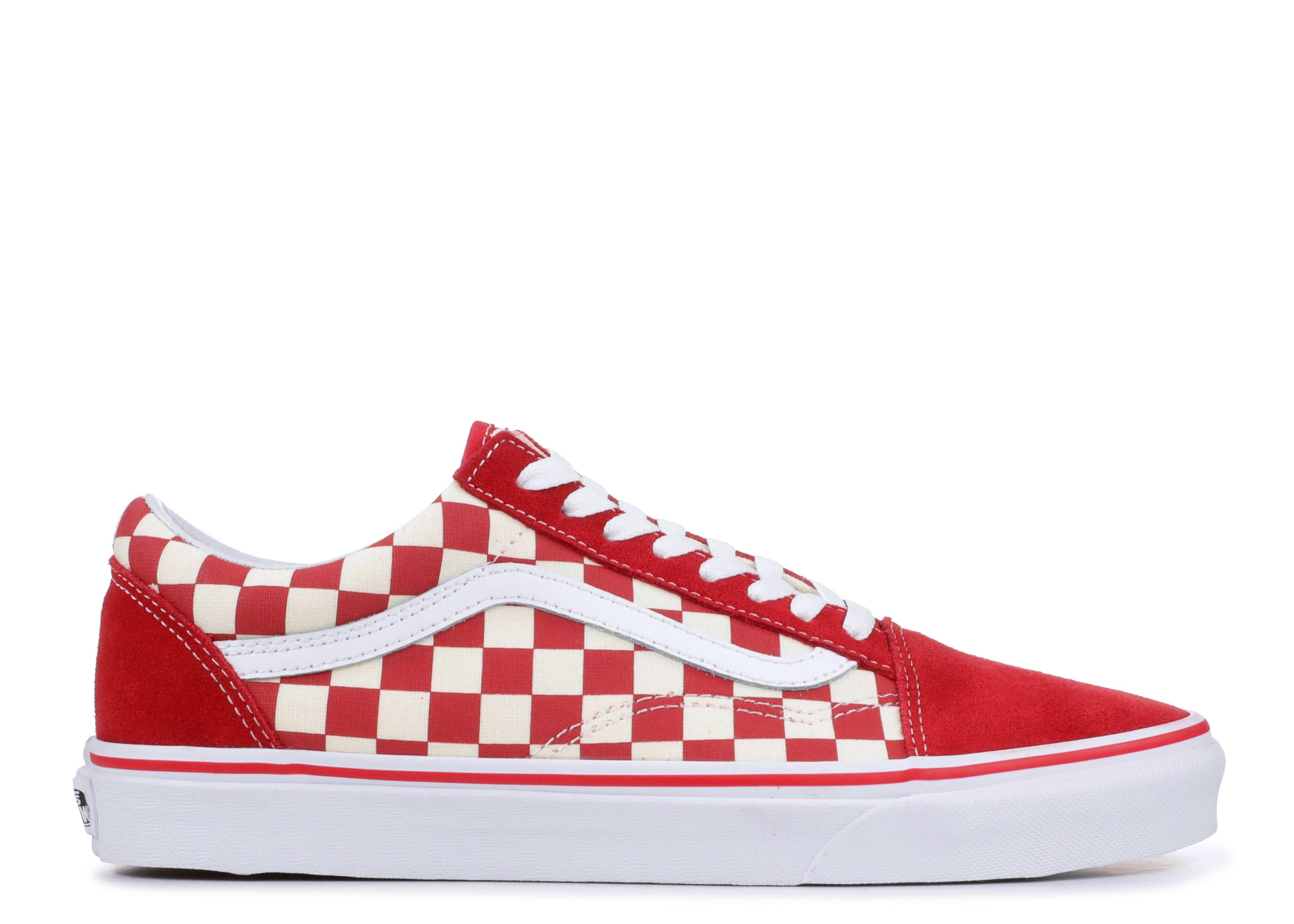 """vans old skool """"red checkerboard """""""