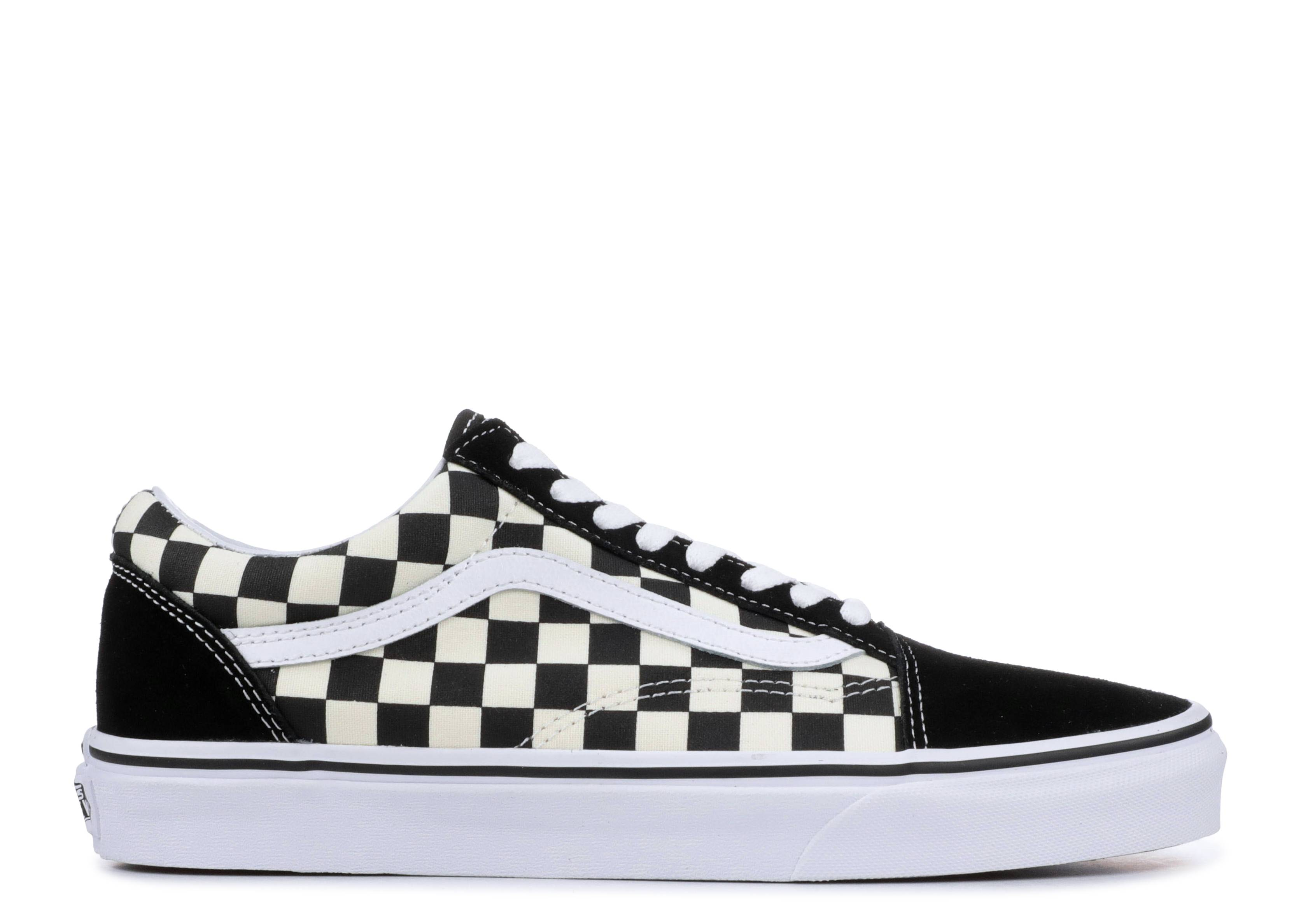 "vans old skool primary check ""black checkerboard"""