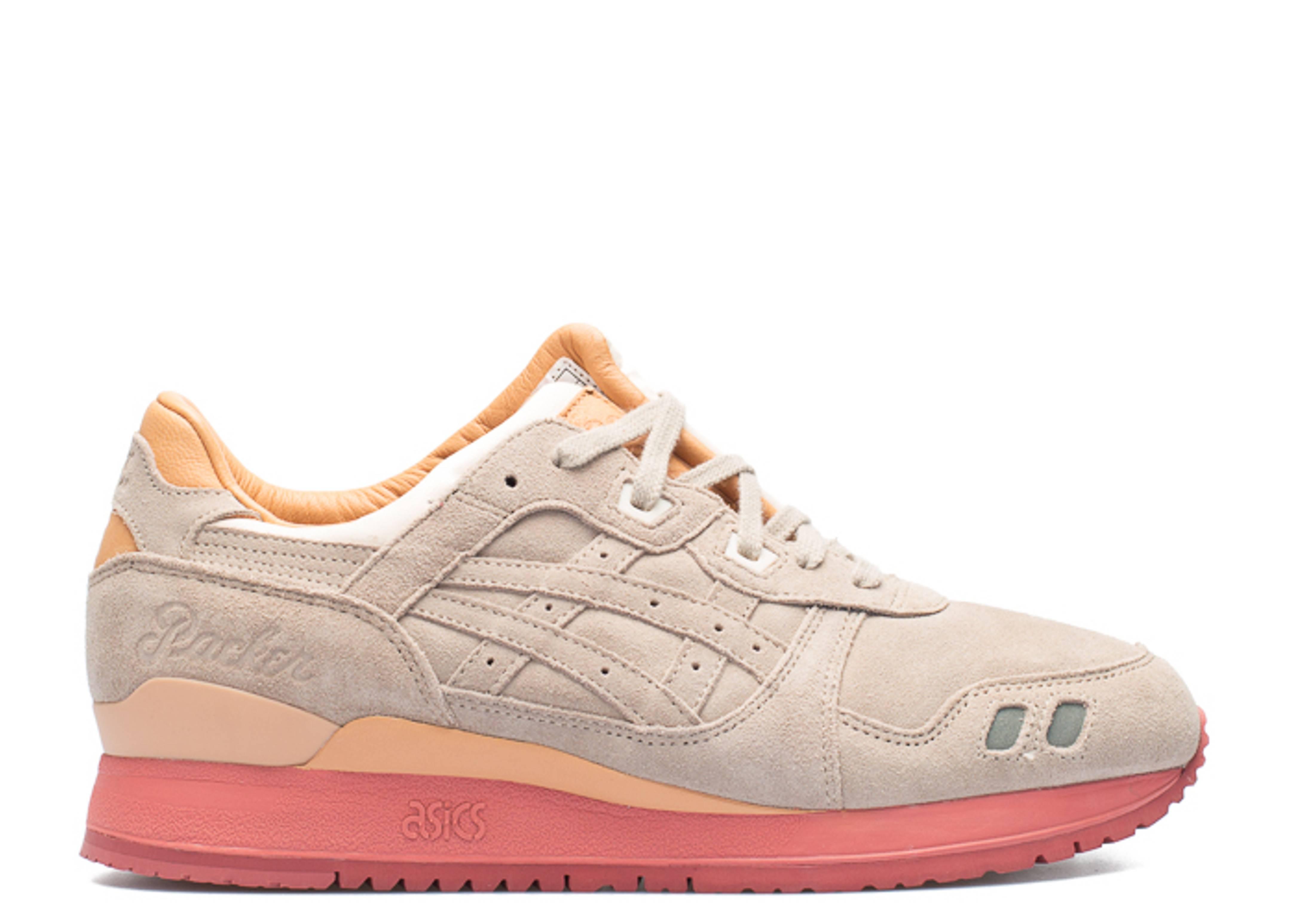 "gel lyte 3 ""packer shoes ""dirty buck"" 25 anniversary regular box"""