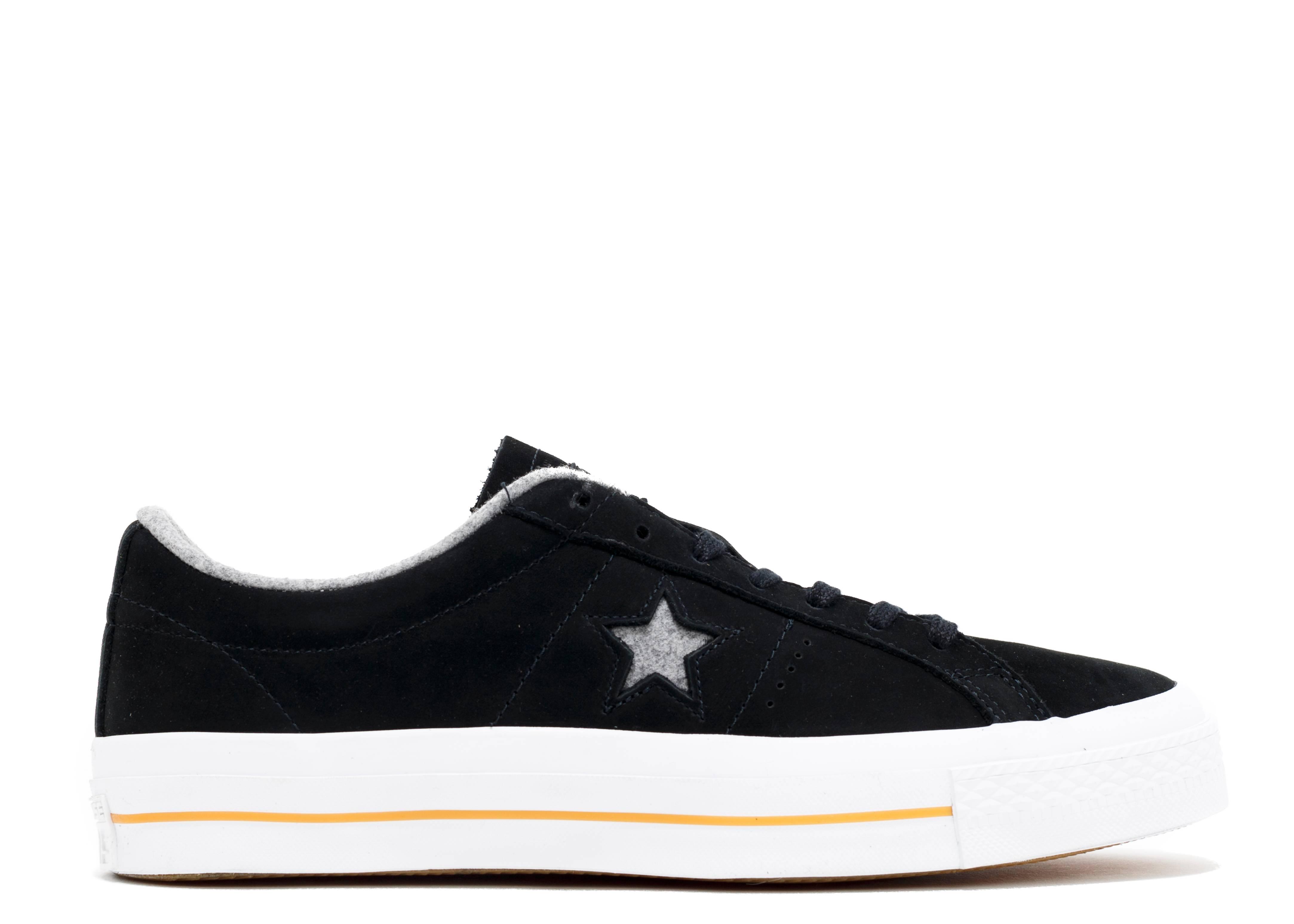 all black converse one star